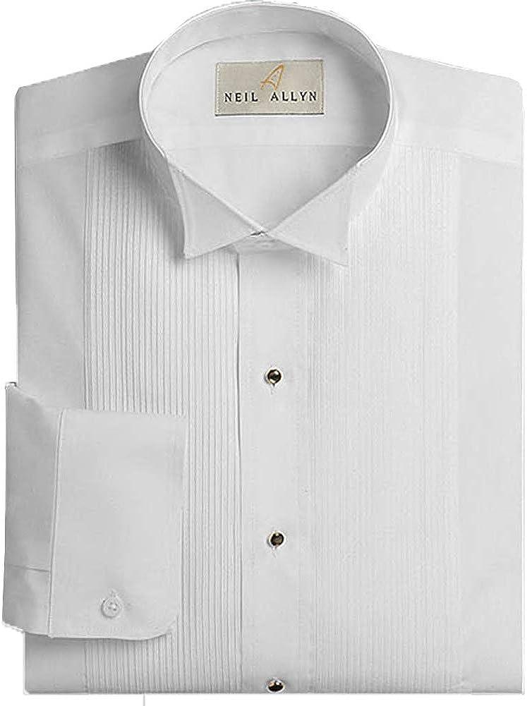 Neil Allyn Men's Free Shipping Cheap Bargain Gift Tuxedo Shirt Wing Collar 8 Max 68% OFF 16-16. Pleat Inch 1
