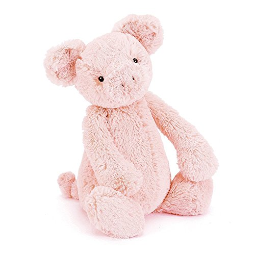 Jellycat Bashful Pig Stuffed Animal, Medium, 12 inches
