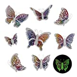 Butterfly Wall Decals Stickers - 3D Decor, Glow in the Dark After Exposure To...