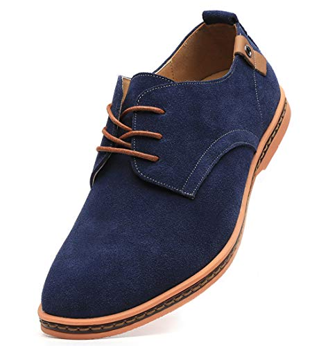 Dadawen Men's Blue Leather Oxford Shoe - 11 D(M) US