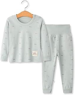 100% Organic Cotton Baby Boys Girls Pajamas Set Long Sleeve Sleepwear(3M-6T)