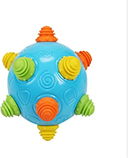 DUTISON Baby Music Shake Dancing Ball Toy, Children Baby 1-3 Years Old Bouncing Ball Puzzle Baby Toy (Blue)