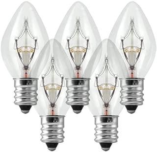 C7 - Clear - Twinkling - 7 Watt - Candelabra Base - Christmas Lights - 25 Pack