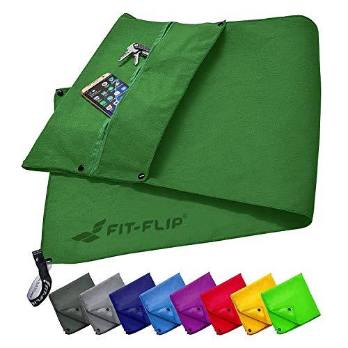 Fitness handdoek set met vak met ritssluiting + magneetclip + extra sporthanddoek, voor patent aangemelde multifunctionele handdoek, microvezel handdoek