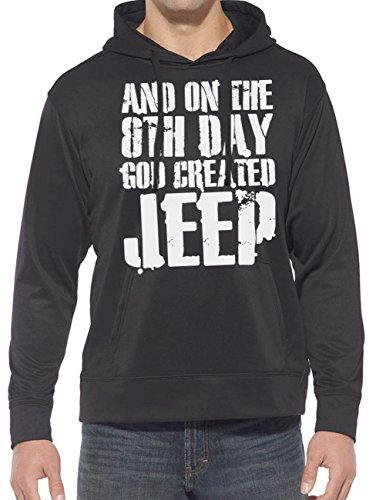 Hotfuel Sweat à capuche Jeep On The 8th Day God Created - Noir - XXXXL