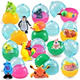JOYIN 12 Pieces Easter Eggs Prefilled with Assorted Wind-up Toys Easter Basket Stuffer for Kids Easter Egg Stuffer Filler Party Favors