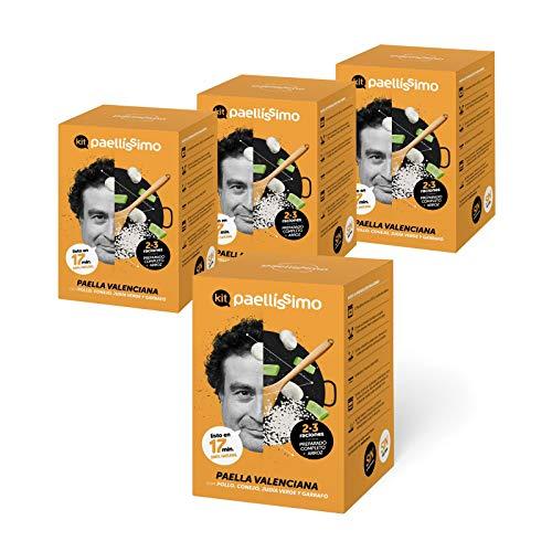Paellissimo - Kit Preparado para Paella Valenciana - Preparado de Arroz - Plato Precocinado Casero 100% Natural y Sin Gluten - Comida Preparada por Chef de Estrella Michelin