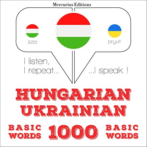 Couverture de Hungarian – Ukrainian. 1000 basic words