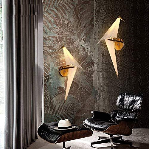 Luce Plafoniera Creative Children Room Sala de estar Dormitorio LED 28 * 65 CM Luz cálida Luz de hierro Luz de pared, Alta calidad Nordic Postmodern Geometric 3D Origami Bird PP Material Lámpara de pa