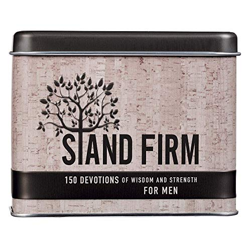 Christian Art Gifts Devotions For Men | Stand Firm – 150 Devotions For Wisdom and Strength | Daily Encouraging Cards for Men w Bible Verses and Prayer