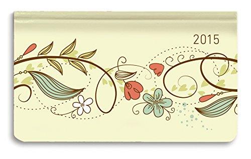 Ladytimer Pad Floral Sketch 2015 - Taschenplaner / Taschenkalender quer (16 x 9) - Weekly - 128 Seiten