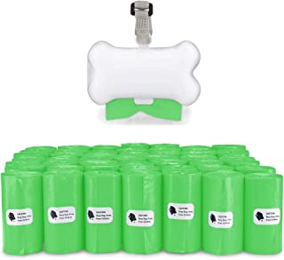 Gorilla Supply Dog Waste Bags with Patented Dispenser and Leash Tie, Green, Unscented, EPI Additive (meets ASTM D6954-04 T...