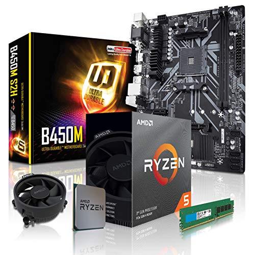 dcl24.de PC Aufrüstkit [11768] AMD 5-3600 6x3.6 GHz - 16GB DDR4, B450 Mainboard Bundle Kit, ohne onBoard Grafik, eigenständige Grafikkarte notwendig