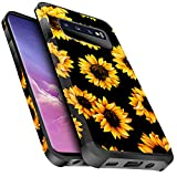 Miss Arts Galaxy S10 Case, Slim Anti-Scratch with [Drop Protection] Cute Girls Women Heavy Duty Dual Layer Protective Cover Case for Samsung Galaxy S10 -Sunflower
