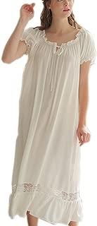 Womens' Cotton Nightgown Nightshirt Ladies Victorian Sleepwear Dress Gown Pajamas Lounger