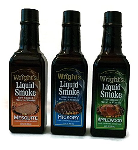 Wright's Liquid Smoke Applewood,Hickory & Mesquite (3 Pack) 3.5 oz