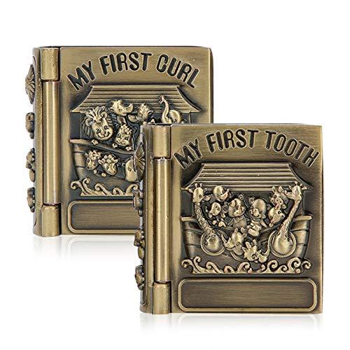 Eulbevoli Elegante y cómoda Caja de Dientes para bebés, Caja de baratijas, decoración de rizos de Dientes para bebés
