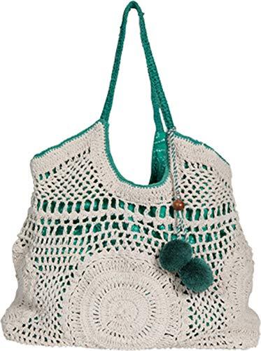 Star Mela Damen Beutel-Tasche Perla in Creme und Grün One size
