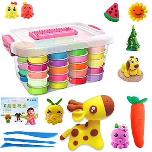 Aorula 48 Colores Air Dry Clay, Arcilla de Modelado Ultraligero, Magic Clay Artist Studio Toy, Arcilla y Masa de Modelado no tóxico, Arte Creativo DIY Crafts, Regalo para niños (48 Colores)