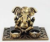 Decohouse - Centro Ganesha Decorativo - Centro Jardin Velas Zen Buda - Regalo Original Barato
