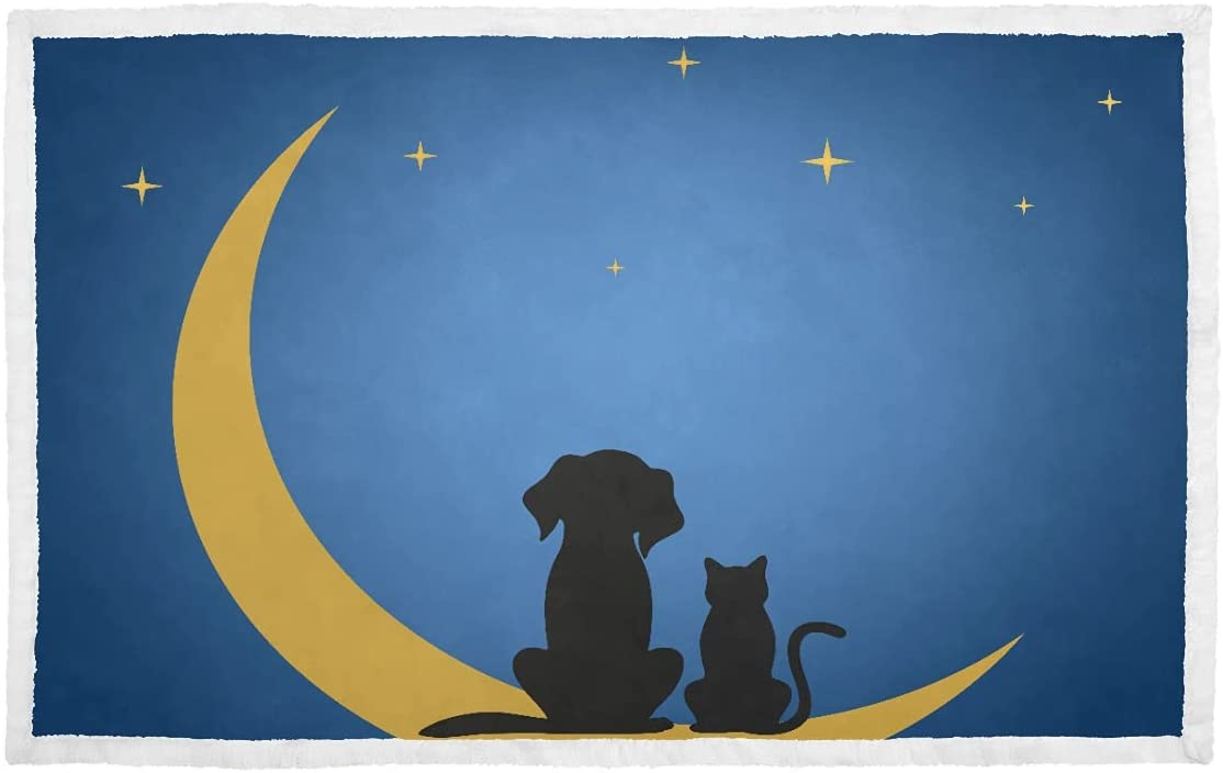 Dog Blankets for Medium Dogs A Factory outlet and Sit On Und The Oklahoma City Mall Cat Moon