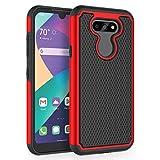 SYONER Shockproof Phone Case Cover for LG Aristo 5 / LG Aristo 5+ / LG Fortune 3 / LG Risio 4 / LG Phoenix 5 / LG K8X / LG K31 / LG Tribute Monarch (5.7', 2020) [Red]