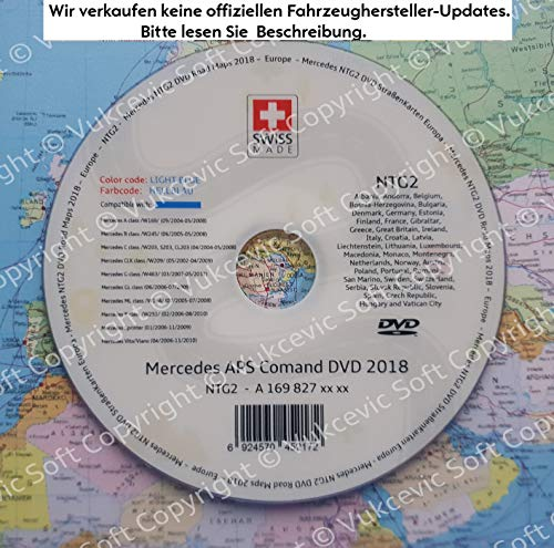 Mercedes APS COMAND NTG2 Update DVD 2018 HELLBLAU