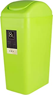 CBTONE 8 Liter / 2 Gallon Plastic Trash Can with Lid, Small Garbage Can Waste Can for Office, Bathroom, Bedroom - Green