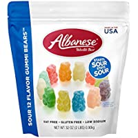 Albanese World's Best Sour 12 Flavor Gummi Bear
