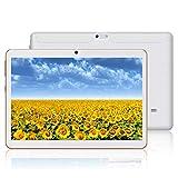 tableta android hxy con pantalla ips de alta definición de 10.0 pulgadas, tableta android 9.0 y 2 ranuras para tarjetas sim, quad-core, 1.3ghz, 4gb + 64gb, bluetooth, wlan, gps, cámara dual,(blanco)