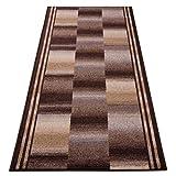 der Meisterei Teppichläufer Ikaria braun 16802 Teppich Läufer Brücke Flur Meterware in 44 Größen, 3 Farben, rutschsicher, 67 cm breit