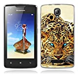 Lenovo A1000 Hülle, Lenovo A1000 Soft Hülle, Gift_Source [ Leopard ] Schutz-Hülle Silikon TPU transparent ultra-slim Case Cover ultra-thin durchsichtig für Lenovo A1000 (for phone not for tablet)