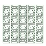 Sarplle S-Form Haken 100 Stück Mini Kugelaufhänger Aufhänger Grün Christbaumkugel Weihnachten Deko für Weihnachtsbaum, Nikolaus, Christbaumschmuck