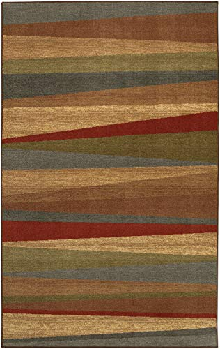 Mohawk Home New Wave Mayan Sunset Striped Printed Area Rug,  5'x8',  Multicolor