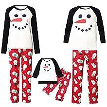 Fossen MuRope Pijamas Navideños Familiars a Juego, Pijama Mujer Invierno Hombre Entero Niña Niño Bebe - Pijama Navidad Familia Baratos Reno
