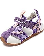 [Eisrumu] ベビーサンダル キッズ 柔らかい 子供靴 サンダル つま先保護 水陸両用 スポーツサンダル 通気性 滑り止め 男女兼用