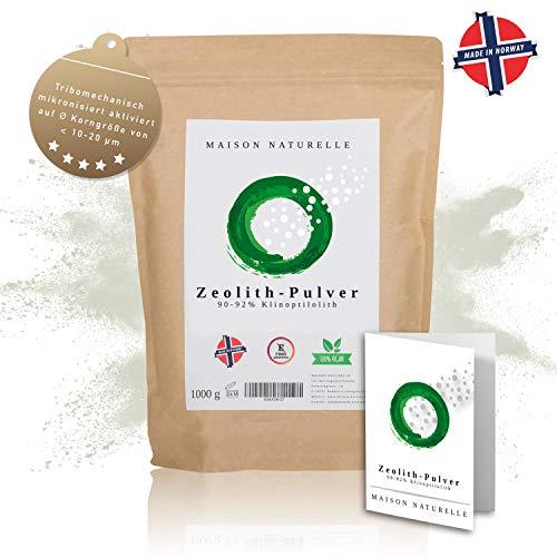 MAISON NATURELLE ® - Zeolith Klinoptilolith Pulver (1000 g) - tribomechanisch mikronisiert & aktiviert