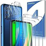 Janmitta para Motorola Moto G9 Plus Protector de Pantalla [3 Piezas] + Protector de Lente de Cámara [3 Piezas] , Cristal Templado Membrana 9H Dureza HD [Fácil de Instalar]