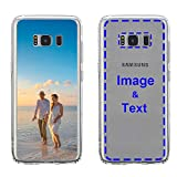 MXCUSTOM Custom Samsung Galaxy S8 Plus S8+ Case, Customized Personalized with Photo Image Text Picture Design Make Your Own Phone Cases Covers [Clear Soft TPU Bumper + Hard PC Back] (CHT-CR-P1)