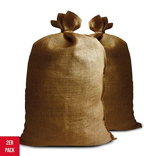 Jutesäcke groß 2er Pack als Winterschutz oder Deko 110cm x 60cm