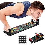 Push Up Board Portable Planche a Pompe de Musculation Multifonction avec Poignées de Pompes pour Fitness à Domicile Antiglisse