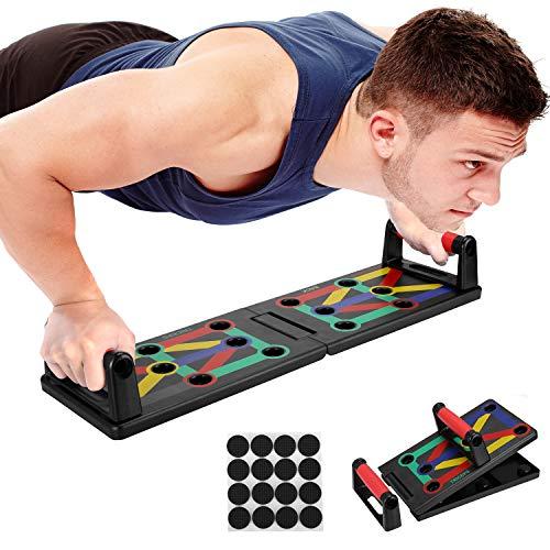 Push Up Rack Board System Plegable Pushup Tabla Board Fitness Entrenamiento Gimnasio Ejercicio Stands para el Aptitud Ejercicio Entrenamiento Muscular del Cuerpo Deporte Gimnasio hogar