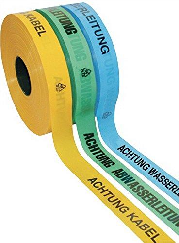 Trassenwarnband Rollenbreite 40mm Rollenlänge 250m Aufdruck Achtung Kabel gelb