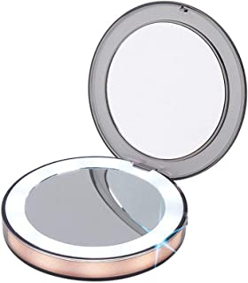 LED Lighted Travel Makeup Mirror,1x/3x Magnification - Portable, Compact, Illuminated Folding Mirror with USB Charging for Beauty, Cosmetic, Camping and Travel