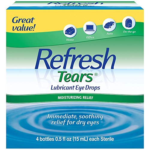 Refresh Tears Lubricant Eye Drops, Moisture Drops for Dry Eyes. 4- .5 fl oz. bottles by Refresh
