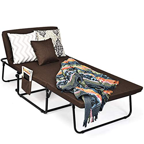 """Giantex Folding Ottoman Sleeper Bed, 3 in 1 Multi-Function Convertible Chair Bed with 6 Position Adjustable, 550lbs Max Weight Capacity, Guest Bed for Small Room Apartment, 78"""" x 35"""""""