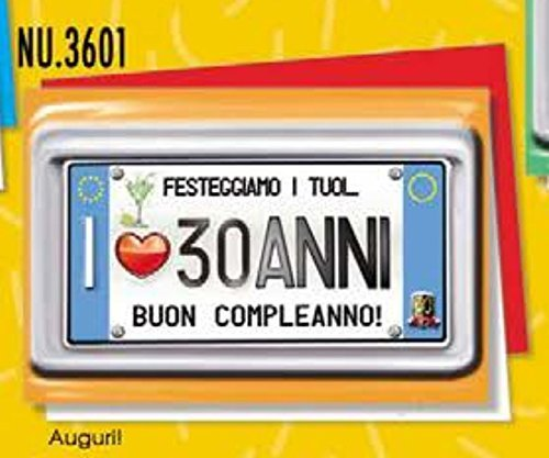 Onmiddellijk beschikbaar verjaardagskaart 30 jaar een bord voor uw jaar.