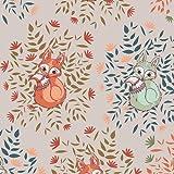 Art Gallery Woodland Fox Stoff – Füchse Taupe – AG76
