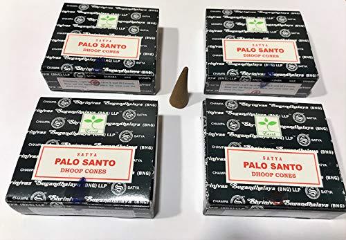 YesMandala Incienso Satya - Palo Santo - 4 Cajas x 12 Conos