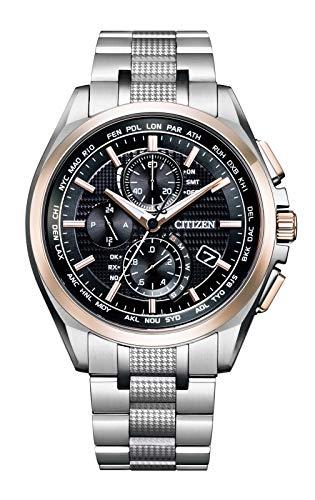 [Citizen] 腕時計 アテッサ ア世界限定1,300本 エコ・ドライブ電波時計 ダイレクトフライト ACT Line AT8047-58E メンズ シルバー